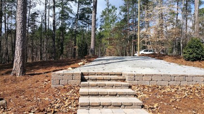 Stone Steps & Retaining Wall