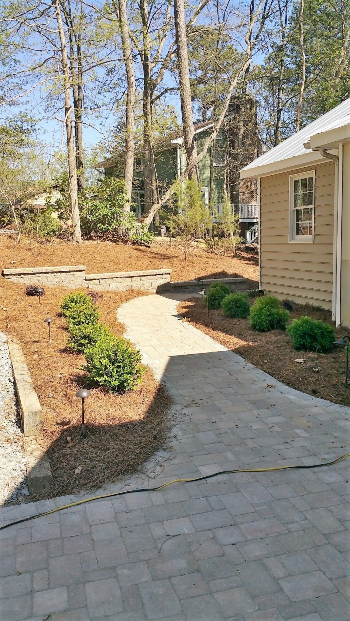 Walkway & Stepped Retaining Wall