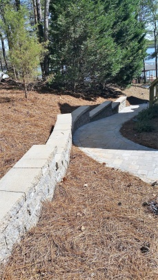 Stepped Retaining Wall