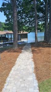 Matching Paver Boathouse Access