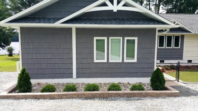 Stone Paver Planting Bed