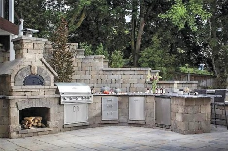 Bristol Brick Oven, Grill, Drawers, Compactor & Refrigerator