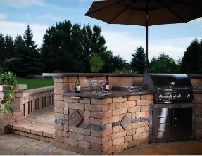Weston Stone Grilling Station & Multi-level Counter Tops