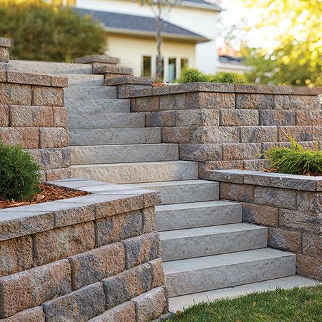 Wall w/ Slab Stone Steps