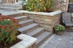 Wall w/ Slab Stone Steps