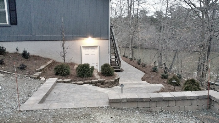 Driveway to walkway transition steps