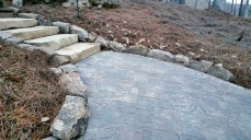 ... to these Lincoln Creek stone slab steps