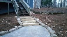 Lincoln Creek stone slab steps