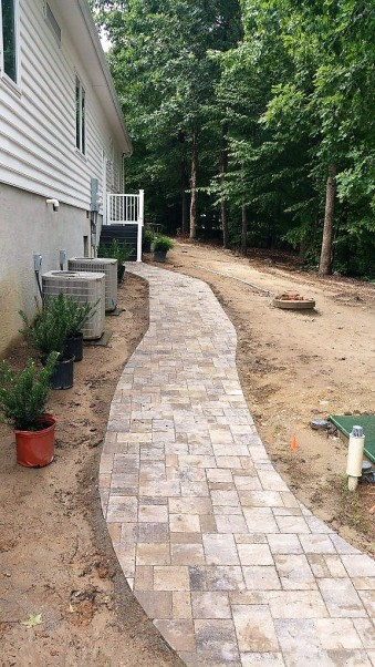 River Street Lafitt paver walkway